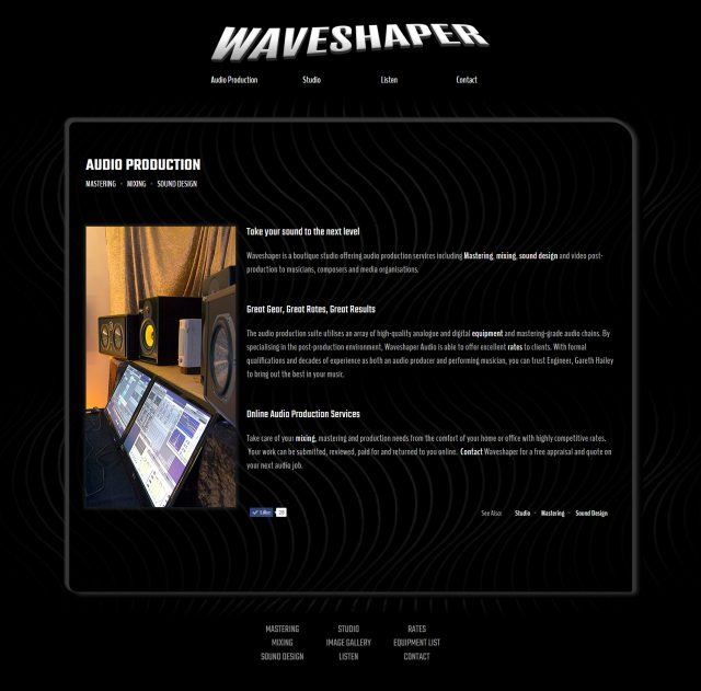 Website Design & Build - Waveshaper Audio