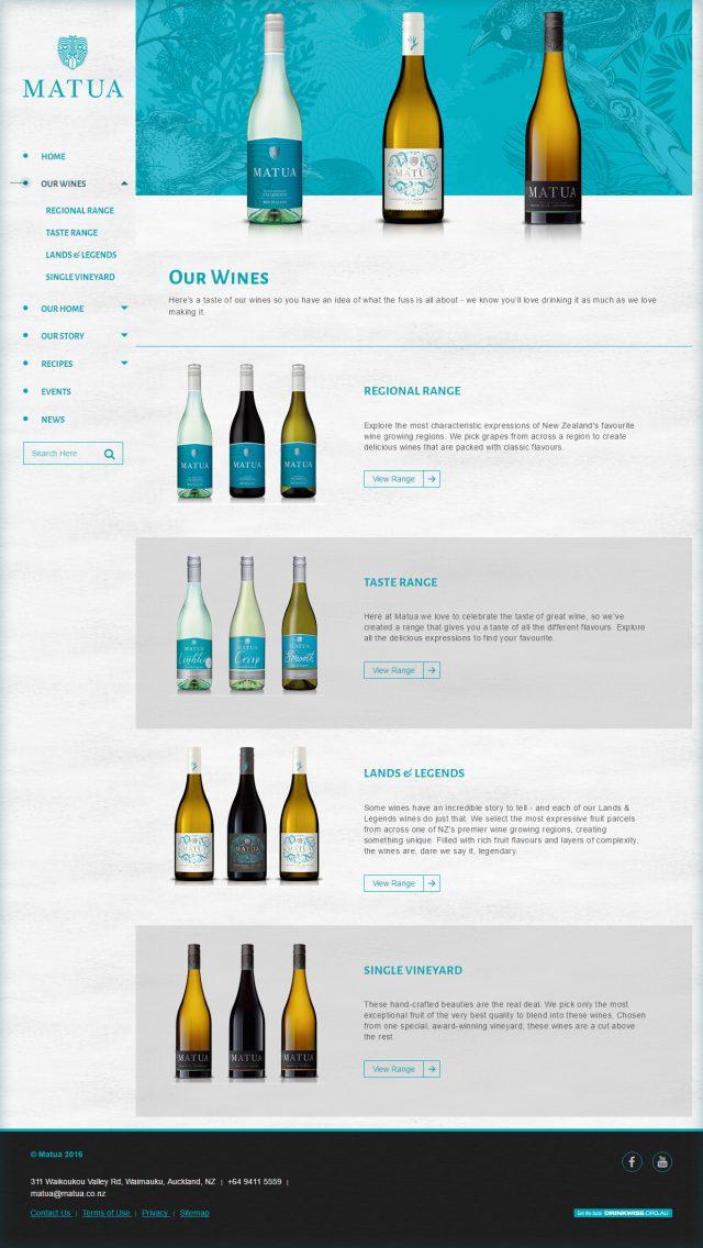 Matua Website